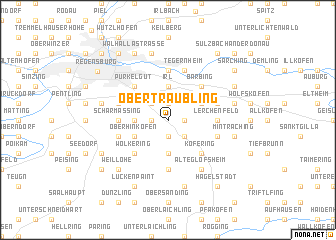 map of Obertraubling