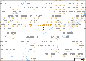 map of Oberwallern