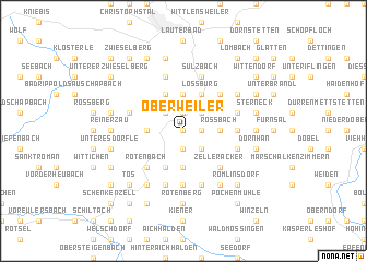 map of Oberweiler