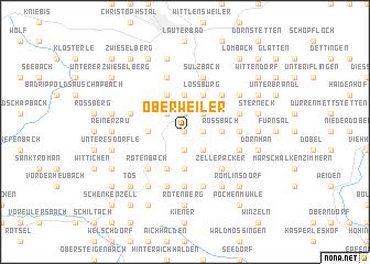 map of Oberweiler