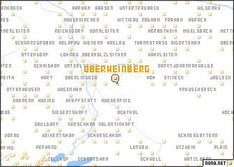 map of Oberweinberg