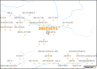 map of Oberweng