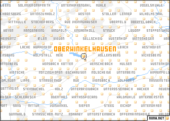 map of Oberwinkelhausen