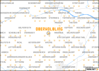 map of Oberwölbling