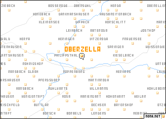 map of Oberzella