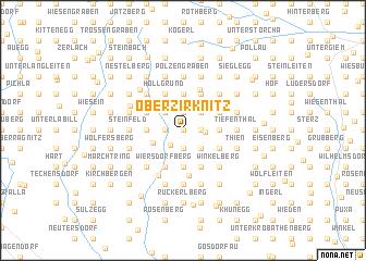 map of Oberzirknitz