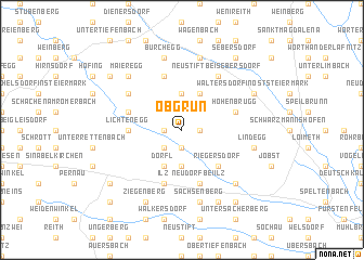 map of Obgrün