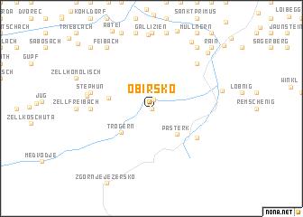 map of Obirsko
