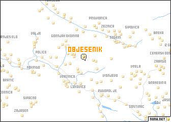 map of Obješenik
