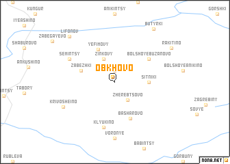 map of Obkhovo