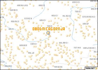 map of Obodnica Gornja