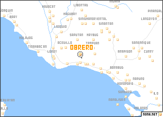 map of Obrero