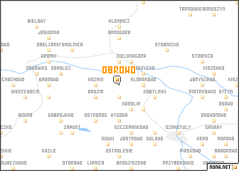 map of Obrowo