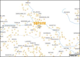 map of Obršine