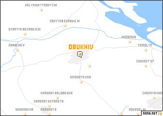 map of Obukhiv