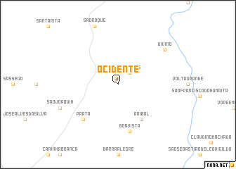 map of Ocidente