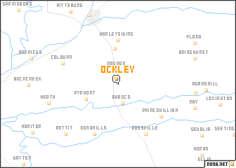 map of Ockley