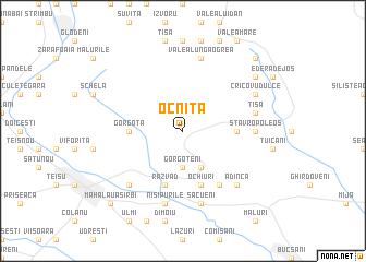 map of Ocniţa