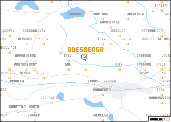map of Ödesberga