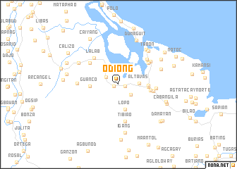 map of Odiong