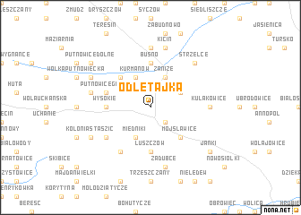 map of Odletajka