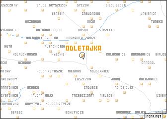 map of Odletajka