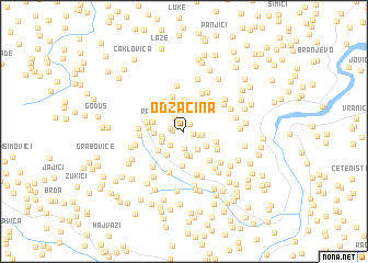 map of Odžačina