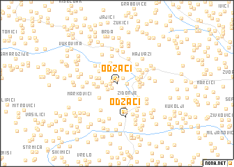map of Odžaci
