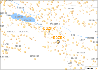 map of Odžak