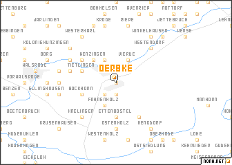 map of Oerbke