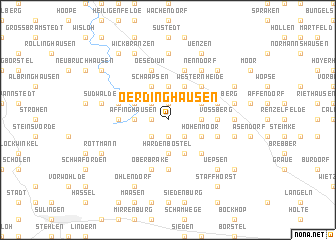 map of Oerdinghausen