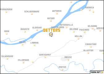map of Oetters