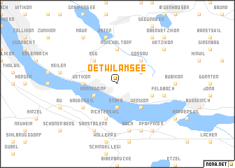 map of Oetwil am See