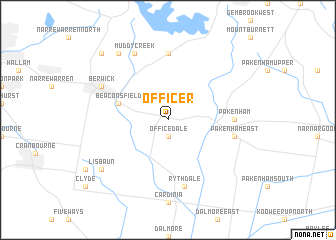 map of Officer