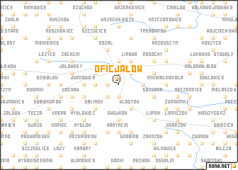 map of Oficjałów