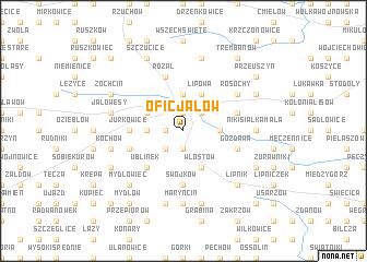 map of Oficjałów
