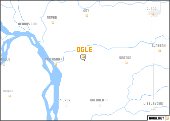 map of Ogle