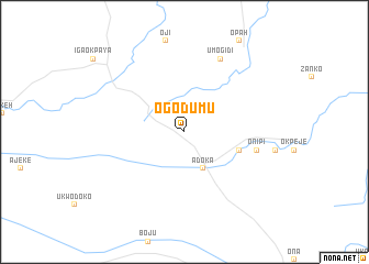 map of Ogodumu