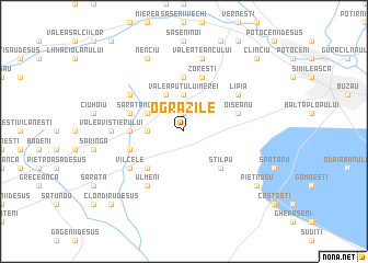 map of Ogrăzile