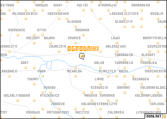 map of Ogrodniki
