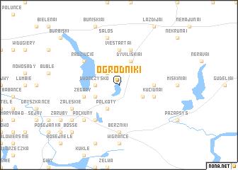 map of Ogrodniki