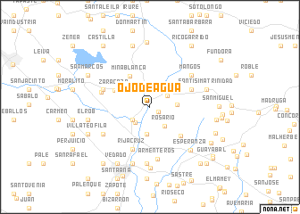 map of Ojo de Agua