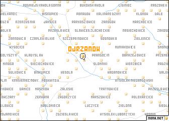 map of Ojrzanów