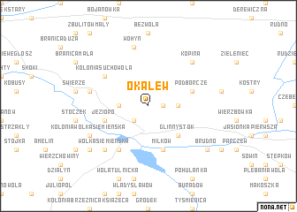 map of Okalew