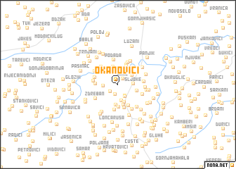 map of Okanovići