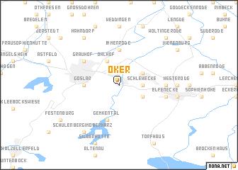 map of Oker