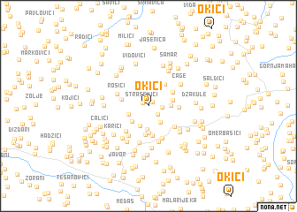 map of Okići