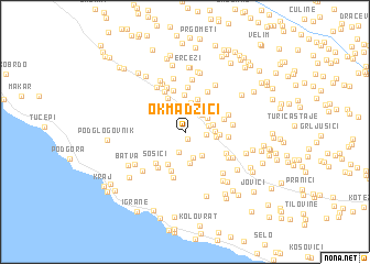 map of Okmadžići