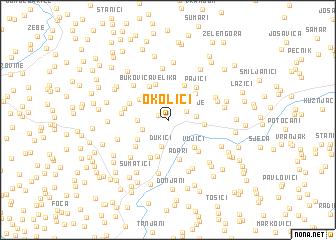 map of Okolići