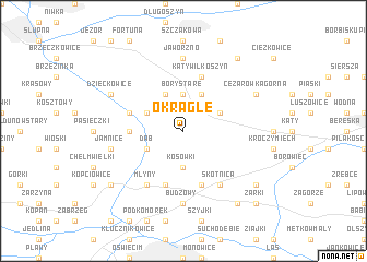 map of Okrągłe